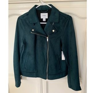 Old Navy Faux Suede Moto Jacket